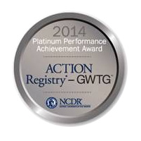 2014 Platinum Performance Achievement Award - ACTION Registry-GWTG